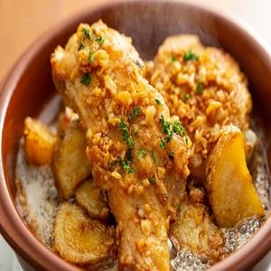 静岡地鶏のガーリックソース